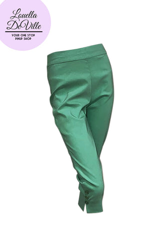 Allison Stretch Bengaline Capris Spearmint