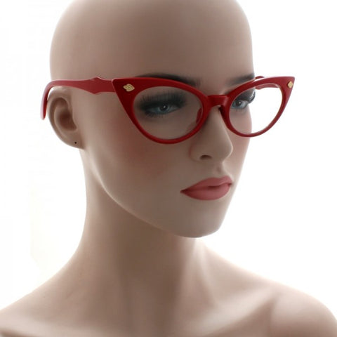Cindy Pastel Coloured Clear Lens Cat Eye Glasses 1595 (Various Colours)
