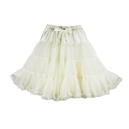 Louella DeVille Luxurious Single Layer Petticoat Ivory/Off White 26""