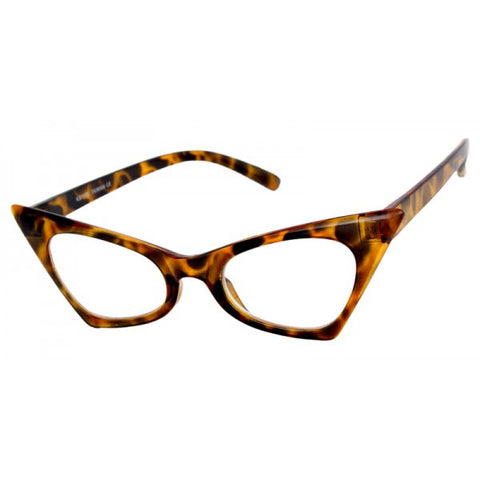 Jayne Clear Lens Cat Eye Glasses 1733 (Various Colours!)