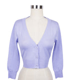 Peggy Sue Cropped PinUp Cardigan Lilac
