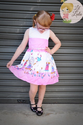 Lil Lulu Friends Flowers & Puppy Dogs Dress