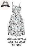 Louella DeVille Loretta Kittens Summer Dress