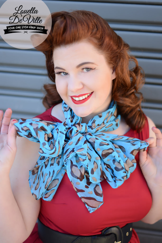 Long Bright Leopard Print Voile Scarf (Various Colours!)