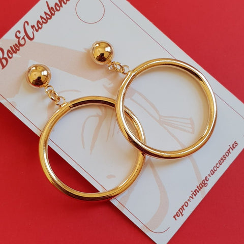 Bow & Crossbones Monroe Hoop Earrings Gold