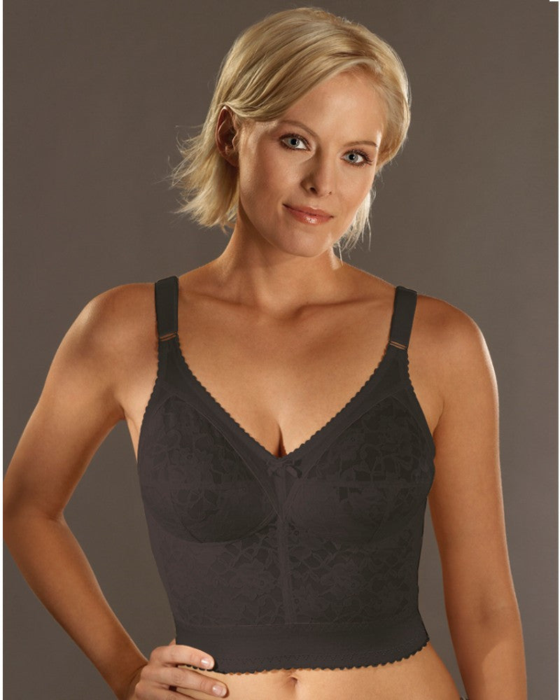 Naturana Long Line Bra Black