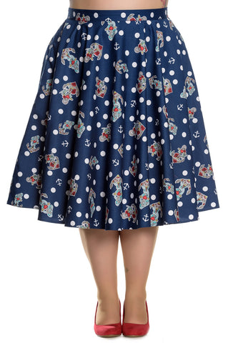 Hell Bunny Nautical Oceana 50s Skirt