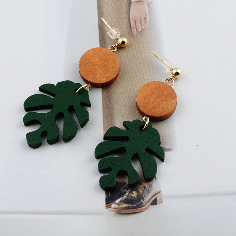 Bohemia Tiki Palm Drop Earrings