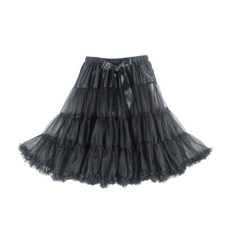 Louella DeVille Luxurious Single Layer Petticoat Black 26""