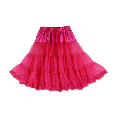 Louella DeVille Luxurious Single Layer Petticoat Hot Pink 26""