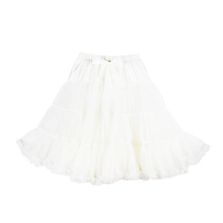 Louella DeVille Luxurious Single Layer Petticoat White 26""