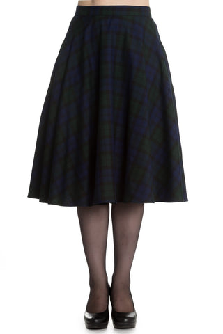 Hell Bunny Doralee Blackwatch Circle Skirt