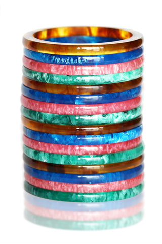 Heidi Fakelite Quad Colour Resin Bangle