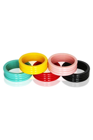 Minnie Dot Fakelite Resin Bangle (Various Colours!)