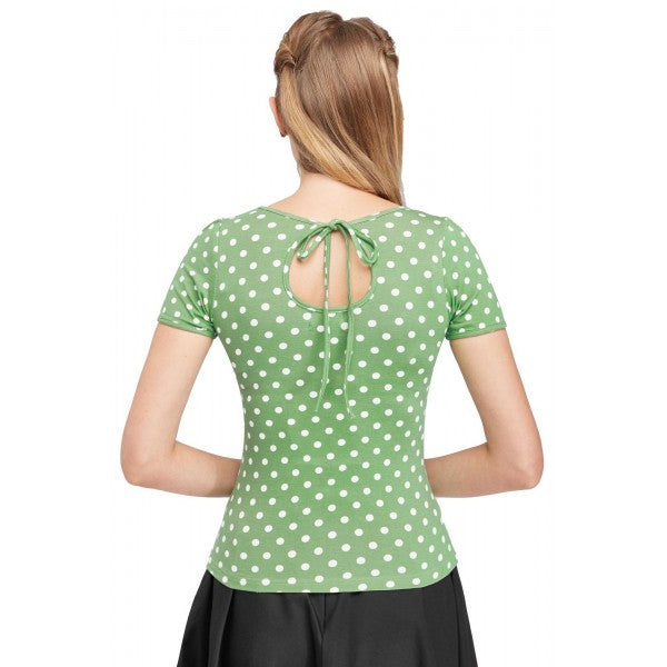 Dolly & Dotty Gina Green Cut Out Top