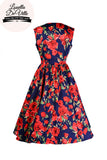 Louella DeVille Navy Summer Rose Rizzo Dress