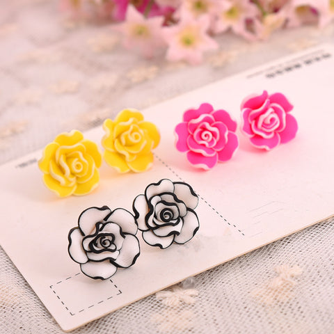 For Fox Sake Clay Rose Earrings (Various Colours!)