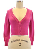 Peggy Sue Cropped PinUp Cardigan Rose Pink