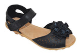 1940s Leather Virginia Sandals Black