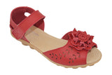 1940s Leather Virginia Sandals Red