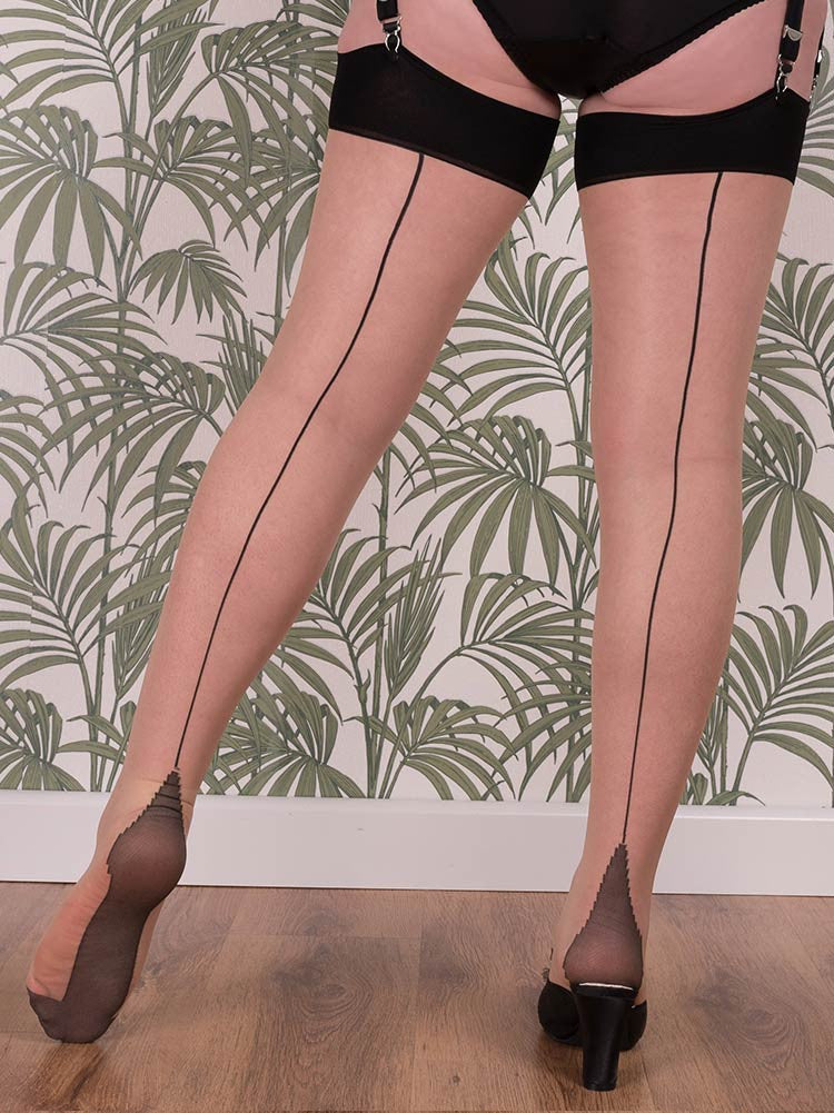 What Katie Did Seamed Stockings Black Glamour H2043
