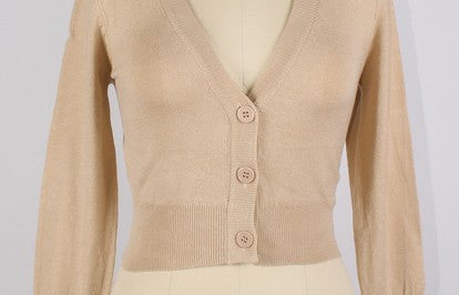 Peggy Sue PinUp Cardigan Taupe