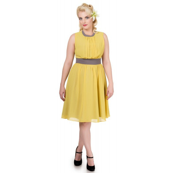 Dolly & Dotty Elsie Pleated 40s Dress