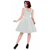 Dolly & Dotty White Polka Dot Wendy Swing Dress