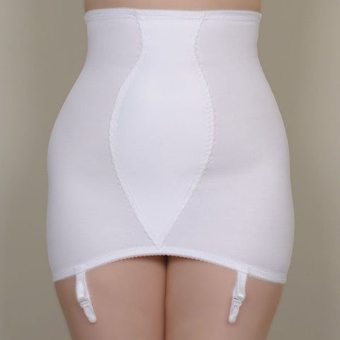 Roll On Suspender Girdle White