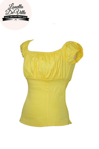 Louella DeVille Lola Peasant Top Sunshine Yellow