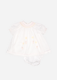 Smocked Pixie Dress, White