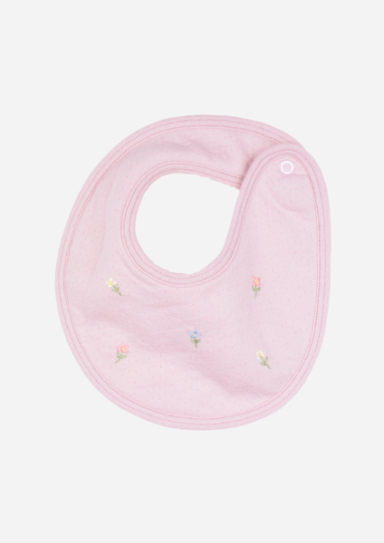 Flowers in the Wind Bib, Dusty Rose