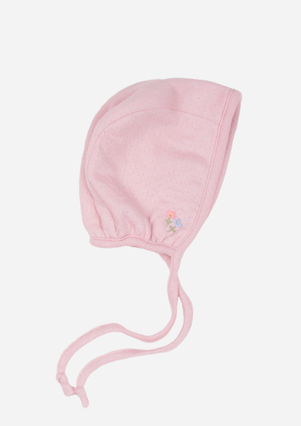 Flowers in the Wind Reversible Bonnet, Dusty Rose