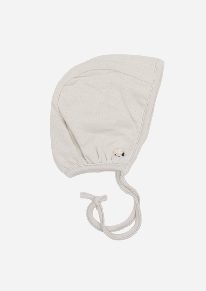 Fluffy Sheep Reversible Bonnet, Dove Grey