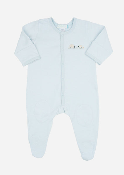Fluffy Sheep Playsuit, Sky Blue
