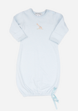 Big Heart Giraffe Baby Gown, Sky Blue