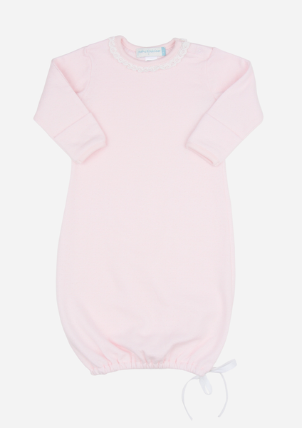 Lacey Daisy Baby Gown, Blush