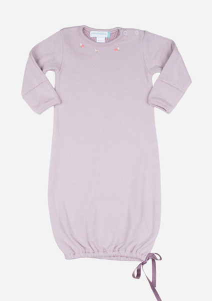 Rose Necklace Baby Gown, Dusty Purple
