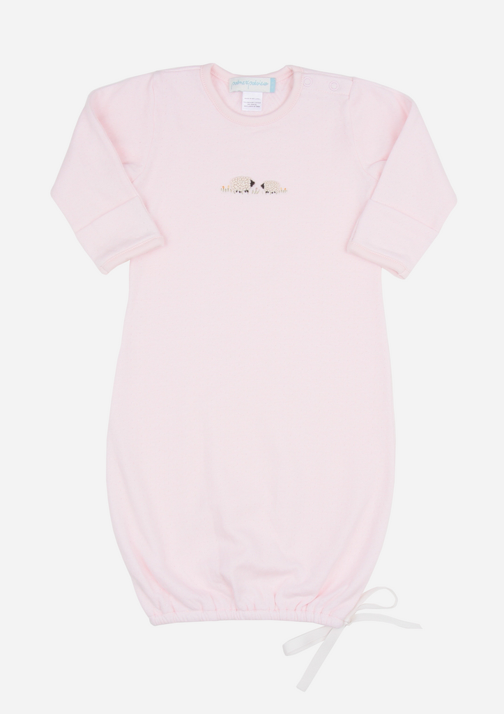 Fluffy Sheep Baby Gown, Blush