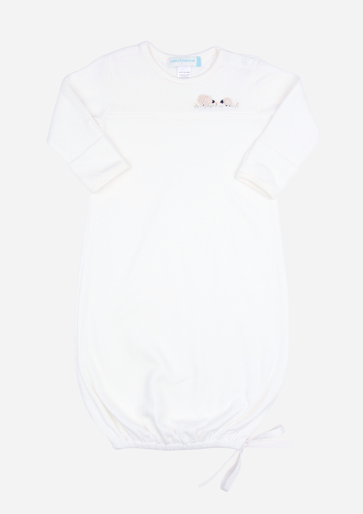 Fluffy Sheep Baby Gown, Ivory