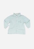 Long Sleeve Fish Shirt, Pale Blue
