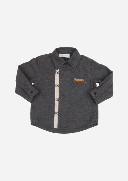 Long Sleeve Fox Shirt, Charcoal