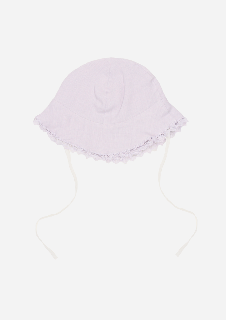 Sun Hat with Lace, Lavender
