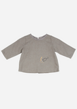 Long Sleeve Mouse Top, Bark