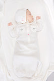Sleepy Eyes & Rose Baby Gown, Ivory