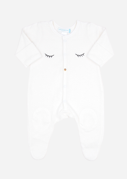 Sleepy Eyes & Button Nose Playsuit, Ivory