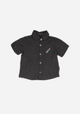 Short Sleeve Feather Shirt, Anthracite