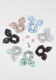 Heirloom Scrunchie, Botanical Garden, Navy