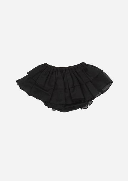Voile Ruffle Bottom, Black