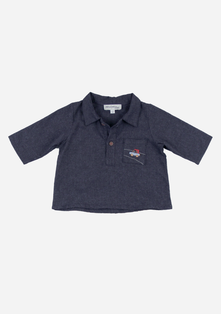 Mid Sleeve Car Shirt, Navy